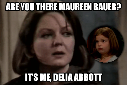 Delia Abbott goes to soap heaven