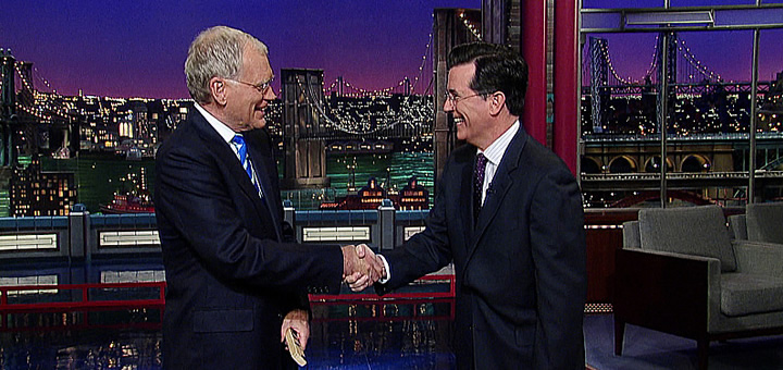 stephen colbert replacing david letterman